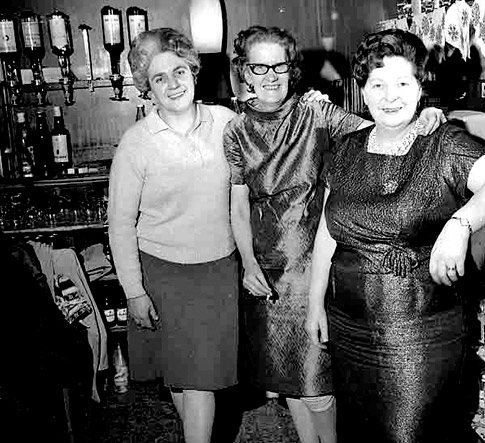 February 1968: Barmaids at South Queen Street WMC.